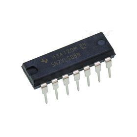 I.C SN74LS08N, Logic Gate Quad 2 Input AND, 4.75 > 5.25 V, 14-pin PDIP