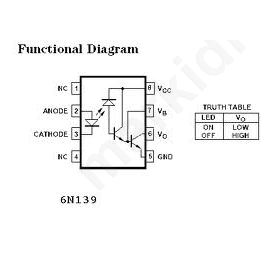OPTOCOUPLER 6Ν139 Low Input Current Photodiode Darlington