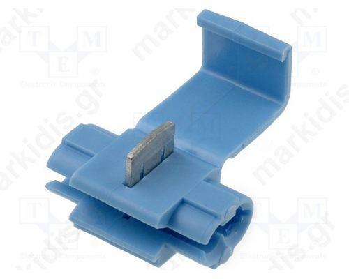 Ακροδέκτης Κλέφτης IDC 0.75-1.5mm2 for cable μπλέ