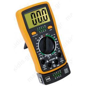 Πολύμετρο Ψηφιακό HY-1300 με Έλεγχο Καλωδίων
