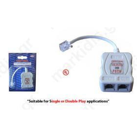 SPLITTER ADSL/POTS RJ11 ΣΕ 2RJ11