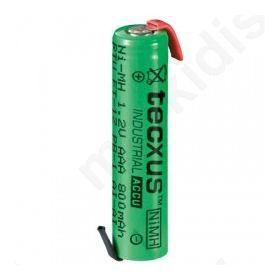 Επαναφορτιζόμενη μπαταρία Ready to use AAA NIMH 800mA με λαμάκια.
