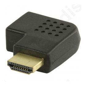 Αντάπτορας HDMI αρσ. - HDMI θηλ. σε γωνία (δεξιά).