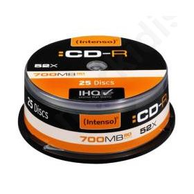 CD-R INTENSO CAKE 25ΤΕΜ 700ΜΒ 00531