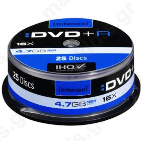 DVD+R INTENSO 4.7GB 16X CAKEBOX 25TEM
