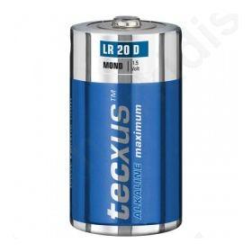 Μπαταρία LR20 D Size TECXUS (Τεμάχιο)