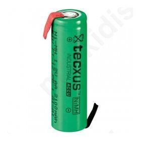 Επαναφορτιζόμενη μπαταρία Ready to Use AA NIMH 2100mA με λαμάκια.