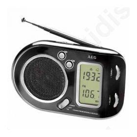 WE 4125 BLACK, Φορητό ραδιόφωνο με ξυπνητήρι