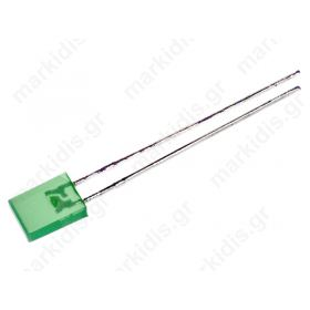 LL-254GD , LED παραλληλόγραμμο πράσινο, 10-15mcd; 146°