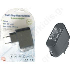 ΤΡΟΦΟΔΟΤΙΚΟ MINWA ΑΠΟ 220V AC ΣΕ USB 1A