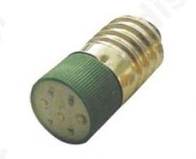 Ενδεικτική Λυχνία Led  E10 220V Πράσινη