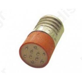 Ενδεικτική Λυχνία Led  E10 220V Κόκκινη