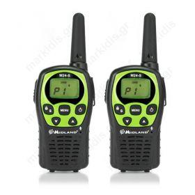 Ζεύγος ασύρματου πομποδέκτη PMR446 (walkie-talkie) Midland M24-S.