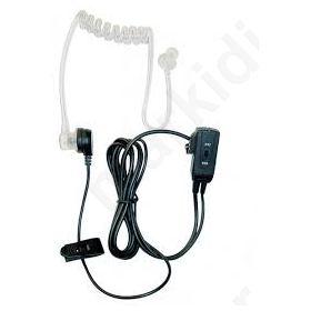 Μικρόφωνο πέτου με PTT, σπιράλ ear tube, 2,5mm,TA-1702-CB
