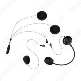 COHS, Σετ ακουστικών με μικρόφωνο κατάλληλο για ανοιχτά και κλειστά κράνη.