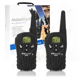 Ζεύγος πομποδέκτη PMR446 (Walkie talkie) Midland G5 XT Work & Hobby.