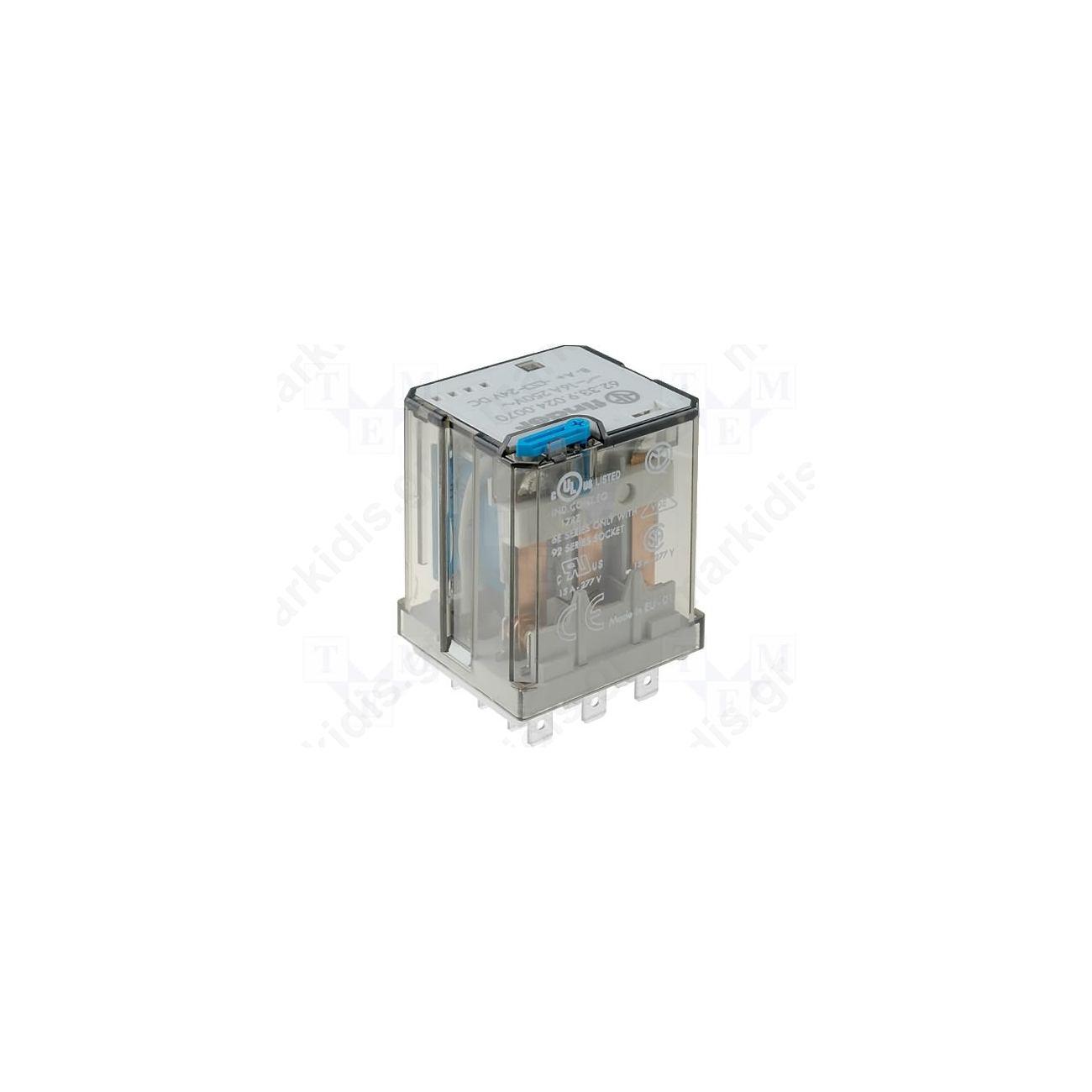 Relay Electromagnetic 3pdt 12vdc 16a Max250vac Industrial Spdt 12v 5a