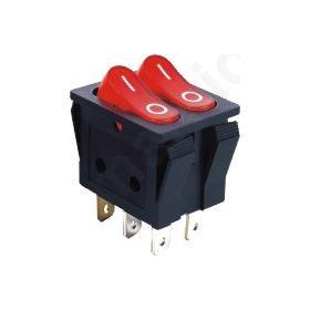 ΔΙΑΚΟΠΤΗΣ ΚΟΥΝΙΑ ΔΙΠΛΟΣ ON-OFF 6P 15A/250V , LED