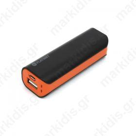 Φορτιστής, φορητός USB 2200mA πορτοκαλί