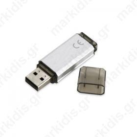 PLATINET USB 2.0 Flash Disk 16GB ασημί