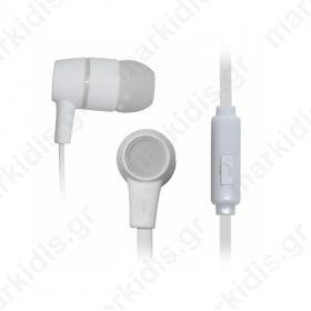 Ακουστικό SK-214W άσπρο με μικρόφωνο Vakoss