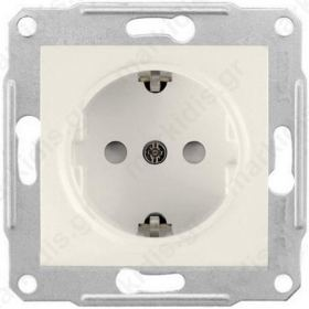 SDN3000123, Πρίζα σούκο ασφαλείας Λευκή