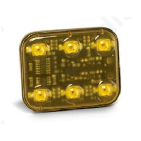 FLASH ΤΕΤΡΑΓ.6 LED 12/24V AMPER