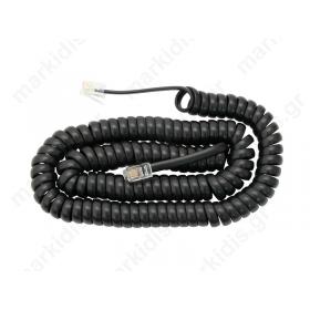 Καλώδιο τηλεφώνου σπιράλ μαύρο SP1084P4CB 1.5Μ BLIS