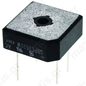 GBPC3510W, Single Phase Bridge Rectifier, 35A, 4-pin 1000V GBPC W