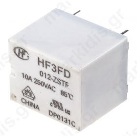 HF3FD/012-ZSTF, SPDT PCB Mount Non-Latching Relay, 10 A, 12V dc