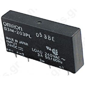 SOLID STATE RELAY  2A G3MC-202PL 24VDC