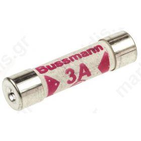 Ασφάλεια Κεραμική 6.3x25mm  3Α