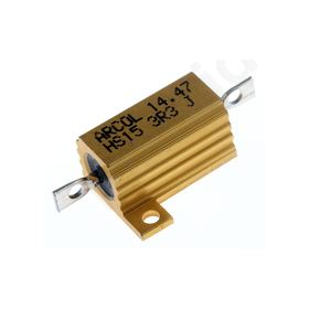 HS15 Series Aluminium Housed Axial Panel Mount Resistor, 3.3O ±5% 15W