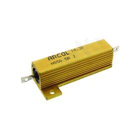 HS50 Series Aluminium Housed Axial Panel Mount Resistor, 5Ω ±5% 50W