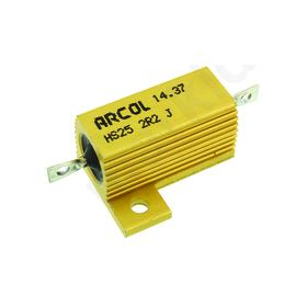 HS25 Series Aluminium Housed Axial Panel Mount Resistor, 2.2Ω ±5% 25W