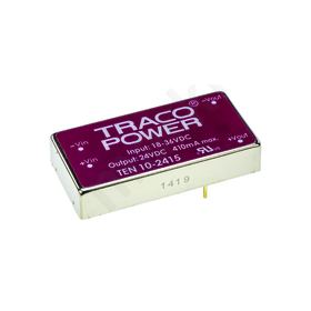 TRACOPOWER 10W Isolated DC-DC Converter Vin 18-36 V dc - Vout 24V dc I/O isolation 1500V dc