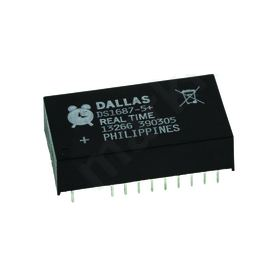 DS1687-5+ Real Time Clock — Alarm, Battery Backup, Calendar, 242B RAM 24-Pin EDIP