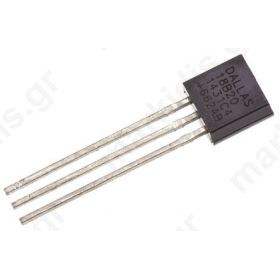 DS18B20+ Temperature Sensor 3-Pin TO-92, -55 > +125 °C