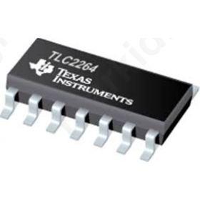 I.C TLC2264CD Quad Op Amp, 0.71MHz, 5  15 V CMOS, Rail-Rail 0.55V/΅s, 14-pin SOIC