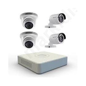 CCTV KIT HIKVISION , ΠΑΚΕΤΟ ΚΑΜΕΡΩΝ ΚΑΤΑΓΡΑΦΙΚΟ + 4 ΚΑΜΕΡΕΣ Γκρι
