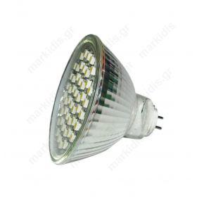 ΛΑΜΠΑ LED MR16 60 SMD 12V 3WATT GREEN