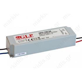 ΤΡΟΦΟΔΟΤΙΚΟ IP67 100W  24V GPV-100-24