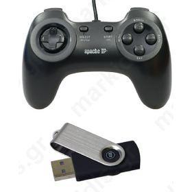 GAME CONTROLLER & ΜΝΗΜΗ USB ΜΕ 600 ΠΑΙΧΝΙΔΙΑ ΓΙΑ APACHE IP