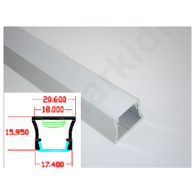 Προφίλ Αλουμινίου LED Ταινίας PD1 Λευκό