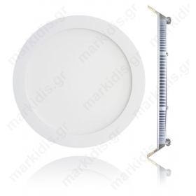 LED Φωτιστικό Πάνελ 18W ROUND 6000K