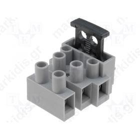 TERMINAL BLOCK 3P 5Χ20 DG801-3P11 6.3A