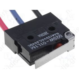 D2SW-01L1M, Μικρομεταγωγέας ON-(ON)  0.1 A / 125 VAC