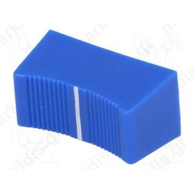 CS1/4A-BLU, Knob: slider; Colour: blue; 23x11x11mm; Mat: plastic; Pointer: