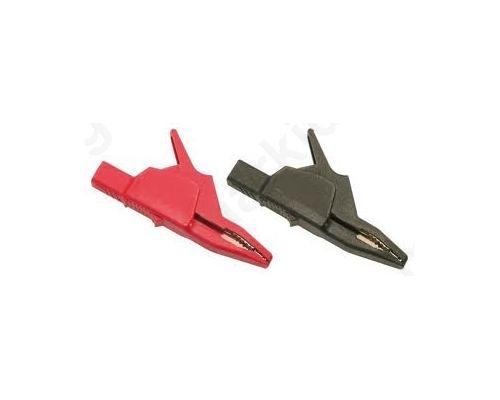 AK2B2540I-SW Crocodile clip; 34A; black; Grip capac: max.30mm; Socket size:4mm