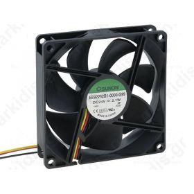 BLOWER 24VDC 92x92x25mm; 87.55m3/h; 34dBA; ball bearing